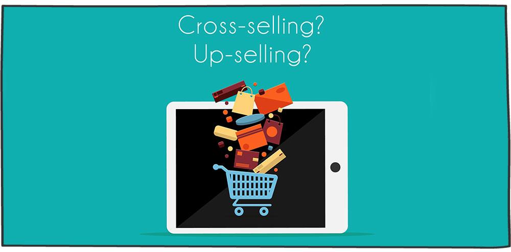 بیش Cross-selling فروشی Upselling در برابر فروش مکمل