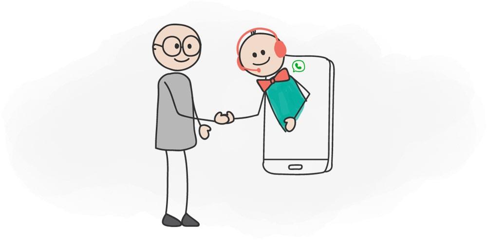 ارائه پشتیبانی از طریق واتس اپ
