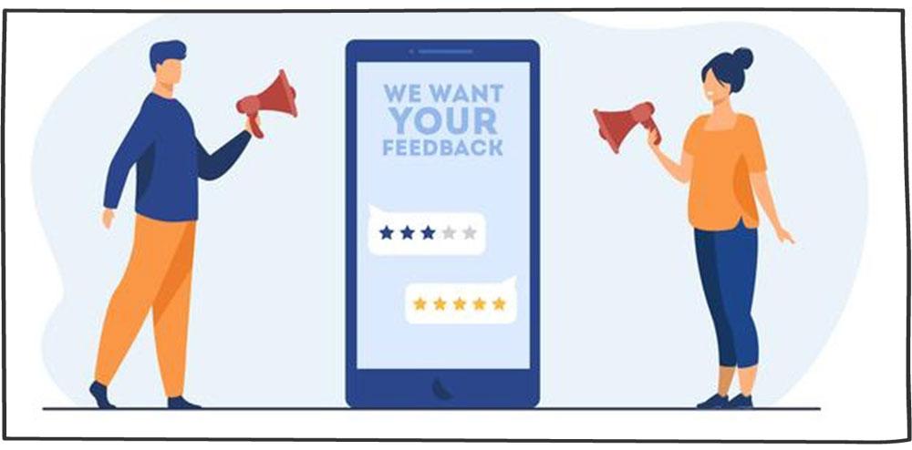 بازخورد گرفتن از مشتری