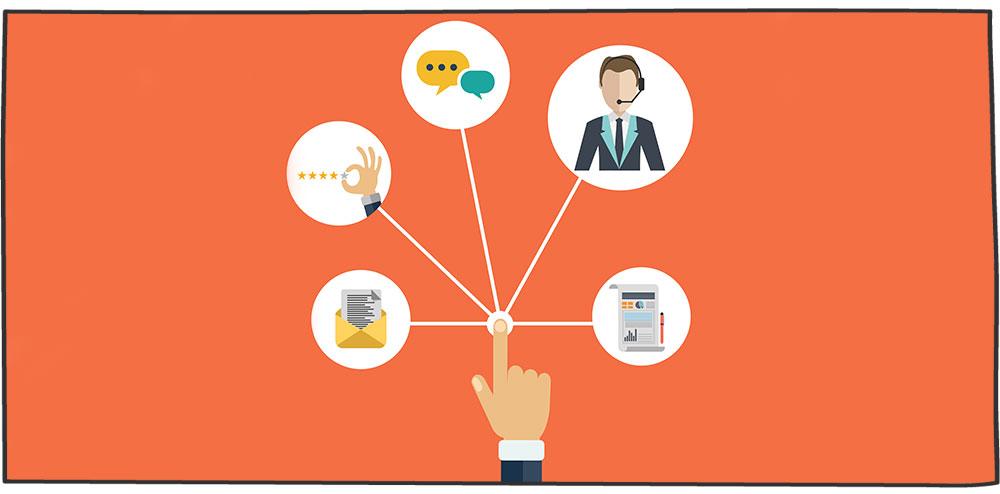 مثالهای تعامل با مشتری