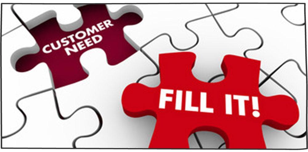 شناسایی و رفع نیازهای مشتری