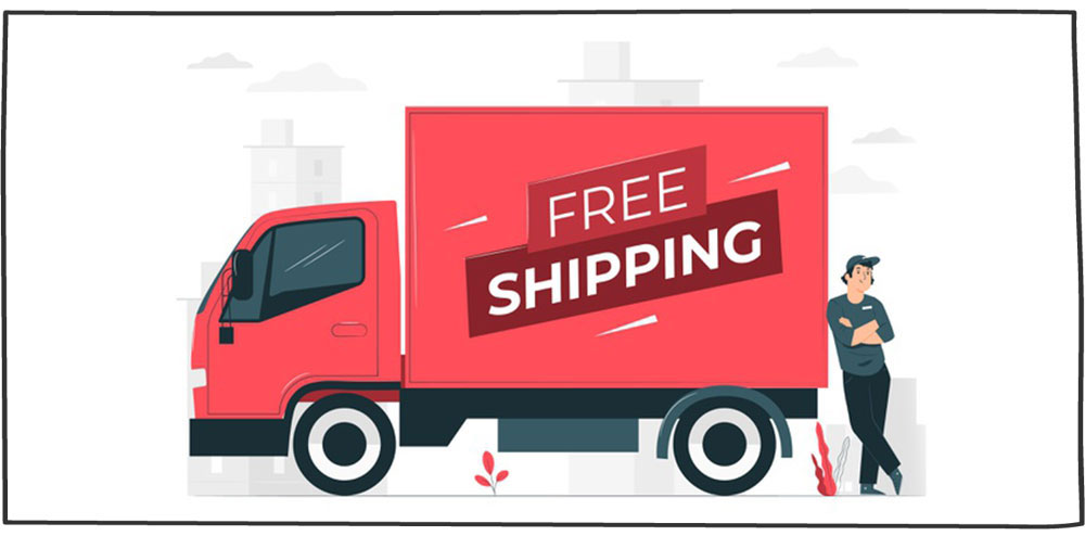 حمل و نقل رایگان- تکنیک فروش