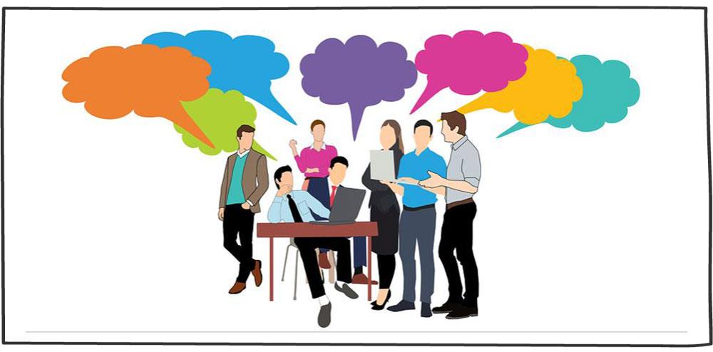 صحبت کردن در جلسه فروش