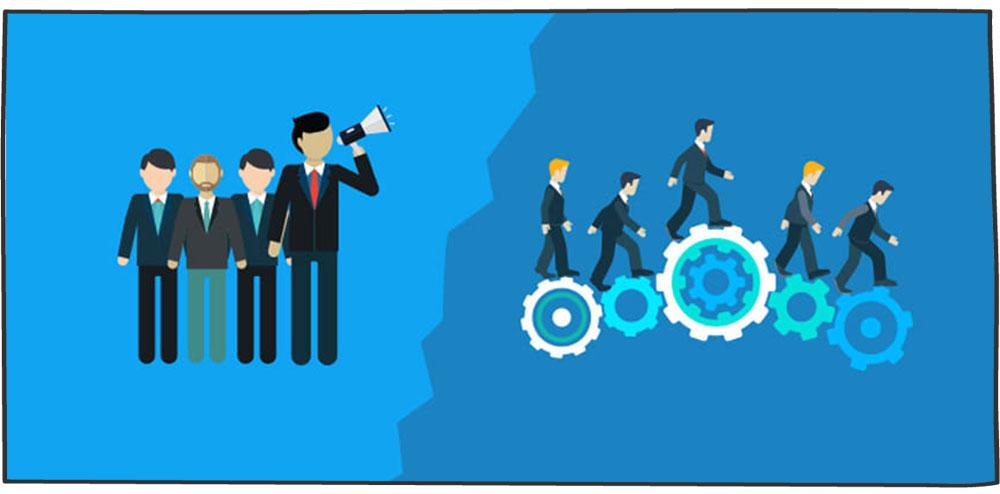 تفاوت مدیر و رهبر