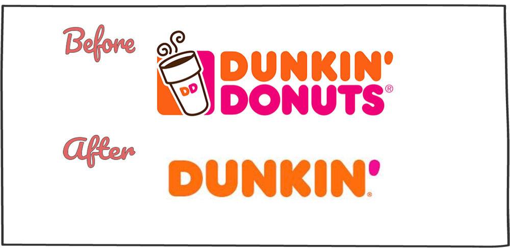 نمونه های ریبرندیگ: شرکت Dunkin Dounuts